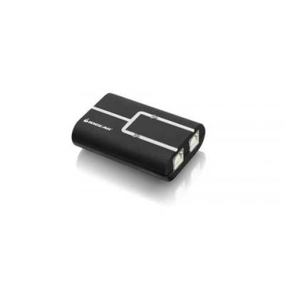 Iogear hub: 2-Port USB 2.0 Printer Auto Sharing Switch - Zwart