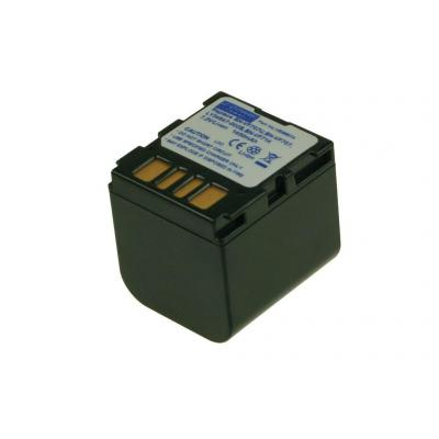 2-power batterij: Camcorder Battery, Li-Ion, 7.2V, 1400mAh, 91g, Black - Zwart