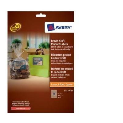 Avery etiket: Brown Kraft Product Labels - Bruin