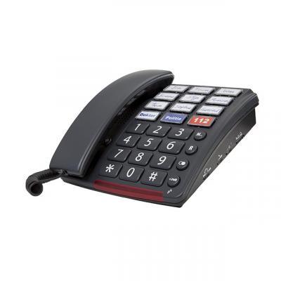 Fysic FX-3390, 24dB, Extra grote toetsen dect telefoon - Zwart