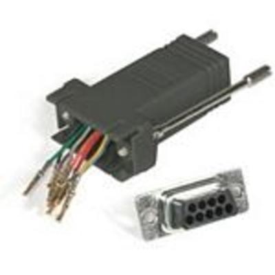 C2G RJ45/DB9M Modular Adapter Kabel adapter - Zwart