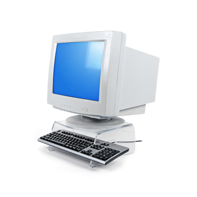 Dataflex Addit monitorverhoger 100 Multimedia kar & stand - Transparant