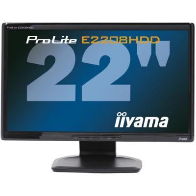 "Iiyama ProLite E2208HDD-B1-A3 22"" Full HD TN - Desktop monitor - Zwart"