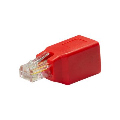 LogiLink RJ45 Crossover adapter, red Kabel adapter - Rood