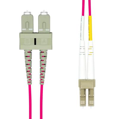 ProXtend LC-SC UPC OM4 Duplex MM Fiber Cable 0.5M Fiber optic kabel - Violet