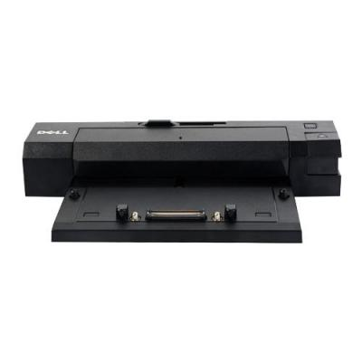 Dell docking station: Replicador E/Port II, USB 3.0, VGA, DVI-D, Seriell, Parallel, PS/2, DisplayPort 1.2, 240 W - Zwart