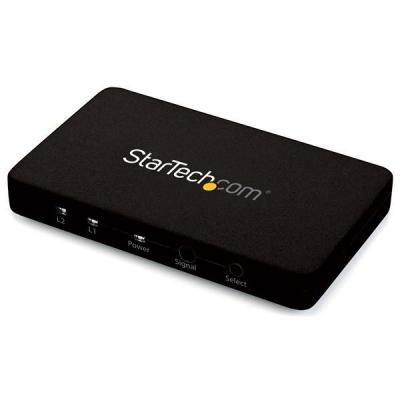 Startech.com video switch: 2-poorts HDMI automatische videoswitch met aluminium behuizing en MHL ondersteuning   4K 30 .....