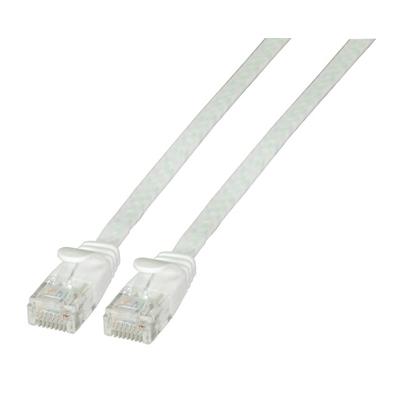 EFB Elektronik RJ-45, Male - Male, 10 Gbit, 500 MHz, U/UTP, Cat6a, PVC, 2 m Netwerkkabel - Wit