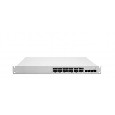 Cisco Meraki MS225-24P L2 Stck Cld-Mngd 24x GigE 370W PoE Switch - Grijs