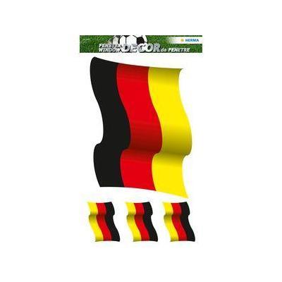 Herma sticker: Window decoration XL Germany flag - Zwart, Rood, Geel