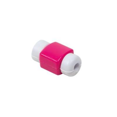 LogiLink USB cable hood protection Kabelklem - Roze
