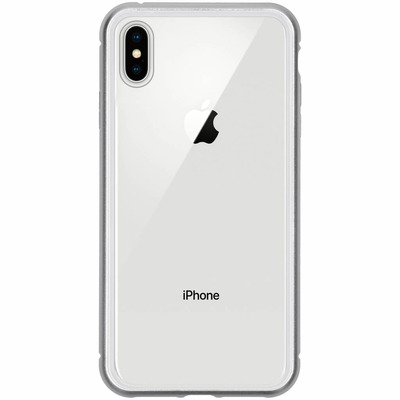 Magnetisch Backcover iPhone Xs Max - Zilver / Silver Mobile phone case