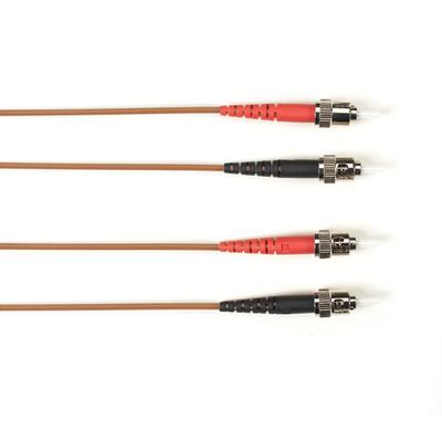 Black Box OM3 50-Micron Multimode Fiber Optic Patch Cable - LSZH, ST-ST, Brown, 3-m (9.8-ft.) Fiber optic kabel