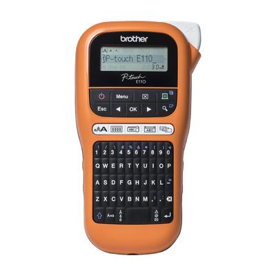 Brother Draagbaar industrieel model (oranje/zwart) 3.5/6/9/12mm TZe - QWERTY Labelprinter - Zwart,Oranje