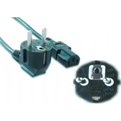 Gembird PC-186-VDE stroomkabel met VDE keurmerk, 1.8m Electriciteitssnoer - Zwart