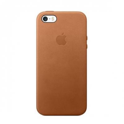 Apple mobile phone case: Leren hoesje voor iPhone SE - Zadelbruin