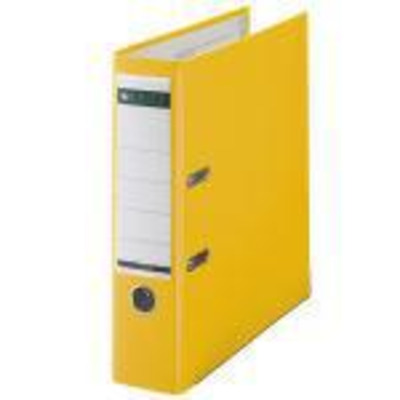 Leitz Plastic Lever Arch File A4 80mm 180° Yellow Map - Geel