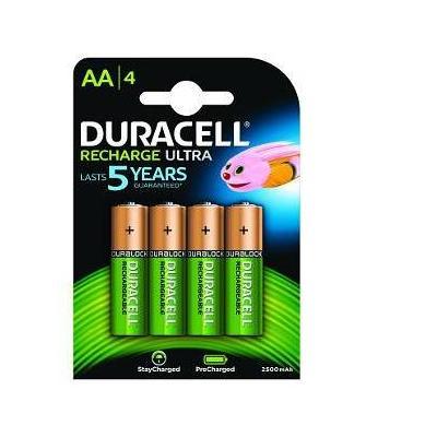 Duracell batterij: AA 2400mAh 4 Pack - Groen