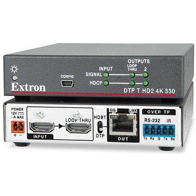 Extron DTP T HD2 4K 330 Reciever - Grijs, Wit