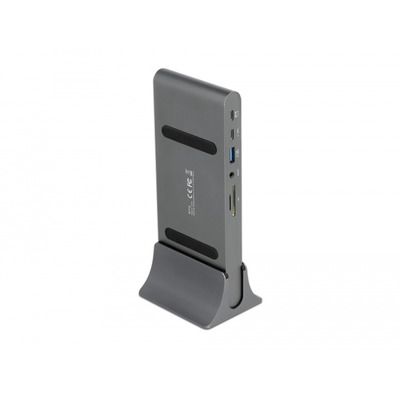 DeLOCK USB, DP, RJ45, USB-C,HDMI, 3.5 mm, SD slot, Micro SD, DC jack slot, HDR / HDR10, 180 x 77 x 18 mm, grey .....