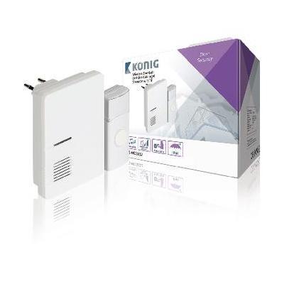 König deurbel: Plug-in Draadloze Deurbel Set 220V 70 dB Wit - Grijs, Wit