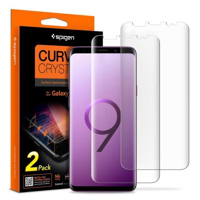 Spigen Galaxy S9 Curved Crystal HD, Optical Base PET Film Screen protector - Transparant