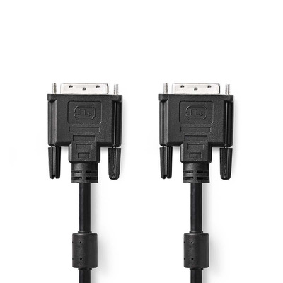 Nedis DVI-Kabel, DVI-D 24+1-Pins Male - DVI-D 24+1-Pins Male, 2,0 m, Zwart DVI kabel