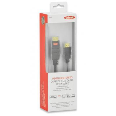 Ednet 2m HDMI m/m HDMI kabel - Zwart