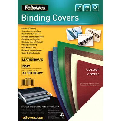 Fellowes Dekbladen leatherlook FSC Binding cover - Ivoor