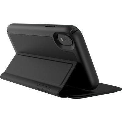 Speck Presidio Folio Leather iPhone XR Mobile phone case - Zwart