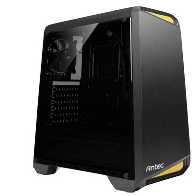 Antec NX100 Behuizing - Zwart, Geel