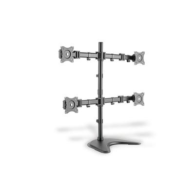 "Digitus Quad Monitor Desk Stand/Clamp Mount, black 15-27"", max. load 4x8Kg,VESA max. 100x100 Monitorarm - Zwart"