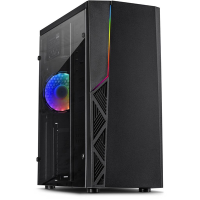 Inter-Tech B-02 RGB Behuizing - Zwart