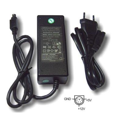 Aixcase AIX-PS34-6PIN Netvoeding - Zwart