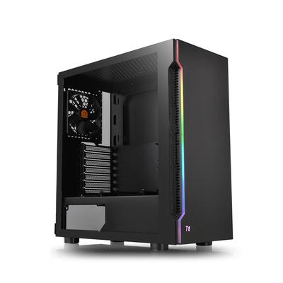 Thermaltake H200 TG RGB Behuizing - Zwart