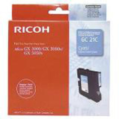 Ricoh Regular Yield Print Cartridge Cyan 1k Inktcartridge - Cyaan