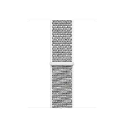 Apple : Geweven sportbandje - Schelpenwit (38 mm) - Zilver