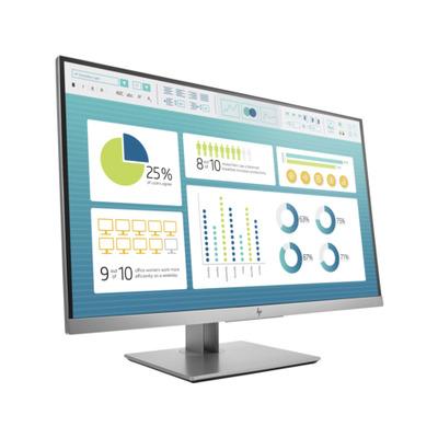 """HP EliteDisplay E273 27"""" FHD IPS Monitor - Zwart, Zilver"""