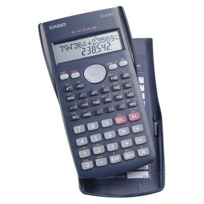 Casio calculator: FX-82MS - 2line, 9 memory - Zwart