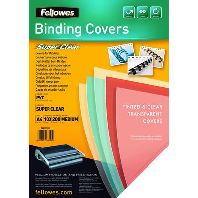 Fellowes Transparante PVC dekbladen - 300 micron A4 Binding cover