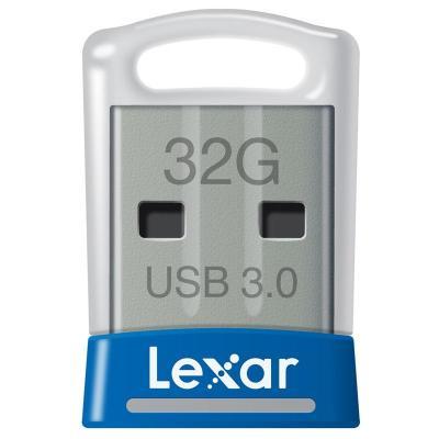 Lexar USB flash drive: JumpDrive S45 32GB - Blauw, Zilver