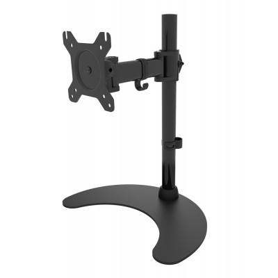 "Techly Desk Stand for 1 Monitor 13 ""-27"" with Base h.400mm ICA-LCD 3400 Monitorarm - Zwart"