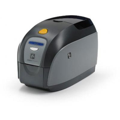 Zebra plastic kaart printer: ZXP1 - Zwart, Grijs, Wit