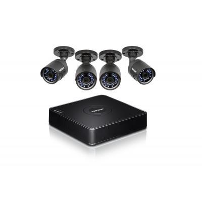 """Trendnet video toezicht kit: 4 channels, 1920 x 1080 (1080p), 4x BNC, HDMI, VGA, RCA, 1 TB 3.5"""" SATA HDD, 10/100 Mbps, ....."""