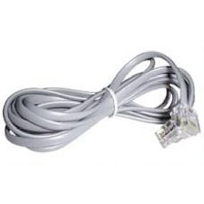 Lindy RJ-10 M/M 10.0m Telefoon kabel - Grijs