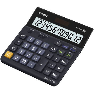 Casio DH-12TER Calculator - Zwart