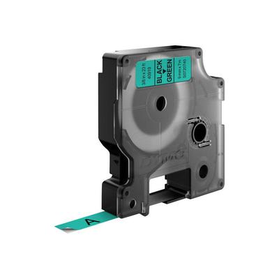 DYMO D1 -Standard Labels - Black on Green - 9mm x 7m Labelprinter tape