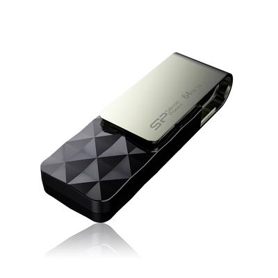 Silicon Power Blaze B30 USB flash drive - Zwart