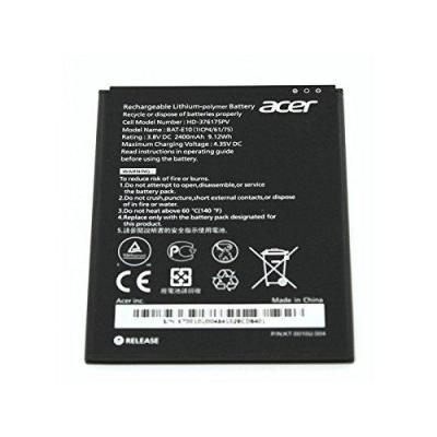 Acer batterij: 2400mAh, Li-Pol, 4.35V - Zwart