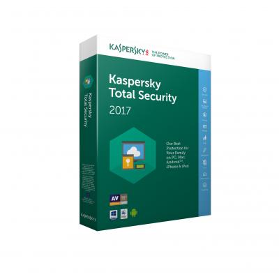 Kaspersky Lab Total Security 2017 - 1 Jaar - 1 Device Software